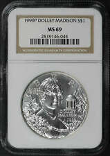1999-P Dolley Madison Silver Dollar Commemorative MS-69