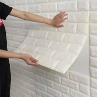Self-Adhesive Stone Brick 3D Wall Sticker Panel Thick Soft PE Foam Wall Covers