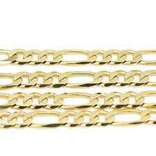 """10k Yellow Gold Figaro Chain Necklace 24""""(new, 28.80g)#2484e"""