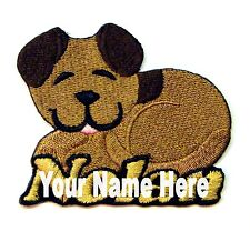 Puppy Dog Custom Iron-on Patch With Name Personalized Free