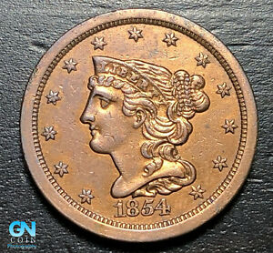 1854 Braided Hair Half Cent --  MAKE US AN OFFER! #K4685