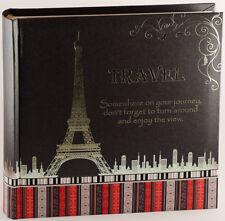 Travel Photo Album in Black   Travel Keepsake   Gift Boxed