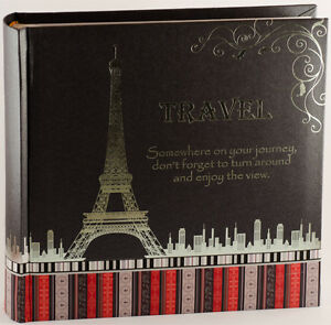 Travel Photo Album in Black | Travel Keepsake | Gift Boxed