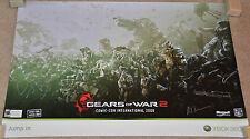 "2009 Comic Con Gears of War 2 Autographed Poster 24x36"" SIGNED gow - CliffyB ++"