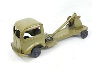 Vintage 1930's Kingsbury Wind Up Army Artillery Cannon Truck SEE PICS / READ