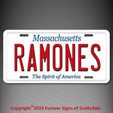 Ramones Punk Rock Band Massachusetts State Aluminum Vanity License Plate Tag