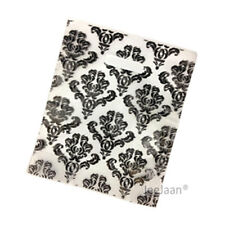 "200 Damask Black Plastic Carrier Bags 10""x12""+4"" Strong Patch Handle Gift"
