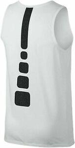 NIKE DRY ELITE STRIPE SLEEVELESS BASKETBALL Tank Top Jersey AA4507 White sz XL