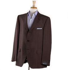 NWT $1495 CARUSO Chocolate Brown Lightweight Silk-Linen Sport Coat Slim US 48 R