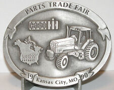 1990 Case IH Kansas City Parts Trade Fair Belt Buckle #1333 Case IH 7130 Tractor