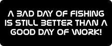 A Bad Day Of Fishing  Hard Hat / Biker Helmet Sticker BS 632