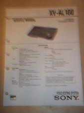 Sony Service Manual~XV-AL100 Video Editing System