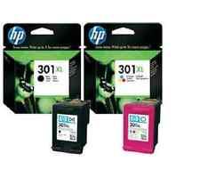 HP 301XL COLOUR & BLACK INK ORIGINAL FOR DESKJET 1050
