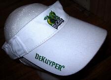 DEKUYPER PUCKER sun visor liquor Apple Schnapps embroidery hat booze logo