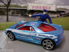 2010 POLICE PURSUIT Design Ex CADILLAC CIEN CONCEPT☆Blue;10☆New LOOSE Hot Wheels