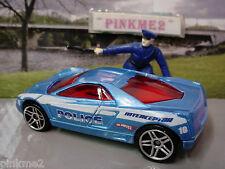 2010 POLICE PURSUIT Design Ex CADILLAC CIEN CONCEPT☆Blue;10☆New LOOSE Hot Wheels