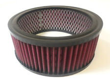 "6 3/8"" Round Washable Element Air Filter Pre-Oiled Red 2 1/2"" Tall"