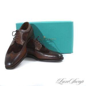 NIB #1 MENSWEAR Edward Green England Harrogate Oak Mink Wingtip Shoes 888 9 9.5