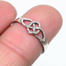 Genuine 925 Sterling Silver Designer Plain Gemstone Ring Size N LS-6784