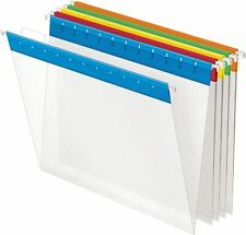 Pendaflex Poly Hanging File Folders 15 Tab Letter Assorted Colors Box Of 25