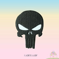 Punisher Biker Super Hero Movie Embroidered Iron On Sew On Patch Badge