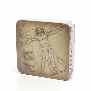 "Carmani Painters 9-pc Set of ""Vitruvian Man"" Cork Coasters, Da Vinci Collection"