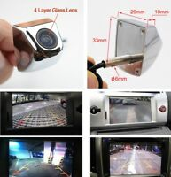 170° HD Car Truck RV SUV Front View Camera Waterproof Parking Assistance Silver