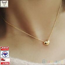 Mother's Day Gift Fashion Gold Plated Heart Bib Chain Pendant Necklace [A3D~B30]