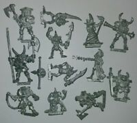 Huge Multi-listing Warhammer Classic Chaos Champions metal models RARE OOP