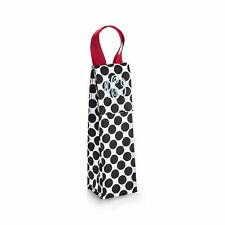 Thirty one Perfect bottle thermal tote bag 31 gift wine cool Black Spotty dot