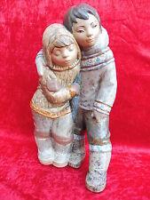 Sehr schöne Porzellanfigur__Eskimo -Paar__Lladro__38,5cm _!