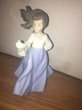 NAO By LLADRO  Porcelain Girl Winged Friend Figure #1088