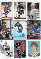WAYNE GRETZKY a lot of 9 DIFFERENTS CARDS INSERTS near mint LOT 40         a
