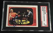 HULK HOGAN & VINCE McMAHON 1985 OPC WWF SIGNED AUTOGRAPHED CARD SGC AUTHENTIC