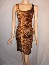MOSCHINO Jeans 2 4 SEXY Hourglass TIGER ANIMAL ITALY Womens Designer Dress