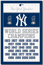 NEW YORK YANKEES - WORLD SERIES CHAMPIONS POSTER - 22x34 BASEBALL 6747