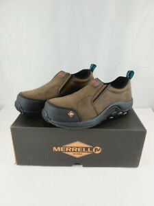 Size 8 MERRELL Womens Jungle Moc CT Slide Mules Slip on Clogs Brown J15794