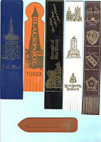 Leather Bookmark Blackpool Tower Lancashire County Blackburn Darwen Waddow Gift