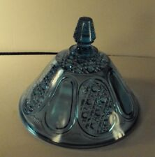 Finecut and Panel pattern glass butter dish top only Campbell and Jones blue