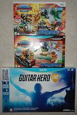 Lot 2 Coffrets Skylanders Superchargers Wii + WiiU + Guitare Hero Live WiiU NEUF