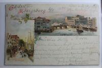 AK Königsberg i. Pr. Mehrbildkarte (Am Pregel usw.) 1899 gebraucht #PG833