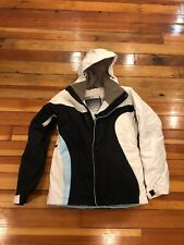 Bonfire Womens Snowboard Jacket Size Small Black And White Nylon With Hood