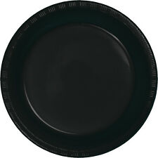"20 Black Velvet Wedding Birthday Party Tableware 9"" Plastic Lunch Plates"