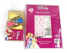 Disney Princess Shower Curtain and Hook set (Cinderella, Belle, Aurora)