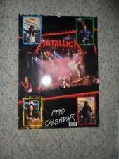 "Metallica 1990 ORIGINAL 12""x16"" CALENDAR Printed in UK  RARE VG COND"
