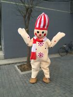 Halloween Snowman Character Mascot Costume Suits Cosplay Party Game Dress Outfit