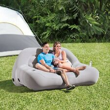 Inflatable Camping Sofa Couch Chair Air Mattress Outdoor Cup Holder Lounger New