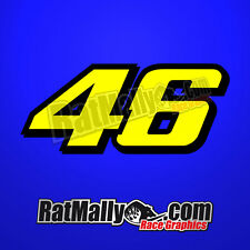 VALENTINO ROSSI DUCATI 46 RACE NUMBERS DECALS GRAPHICS x3