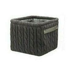 Decorative Soft Storage Basket Dark Gray