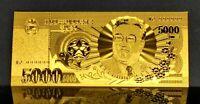 "★★ COREE DU N / N KOREA KIM  : BILLET POLYMER  "" OR "" DE 5000 WON ★★"